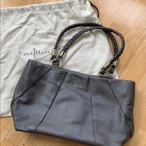 Cole Haan Pleated Leather Shoulder Bag
